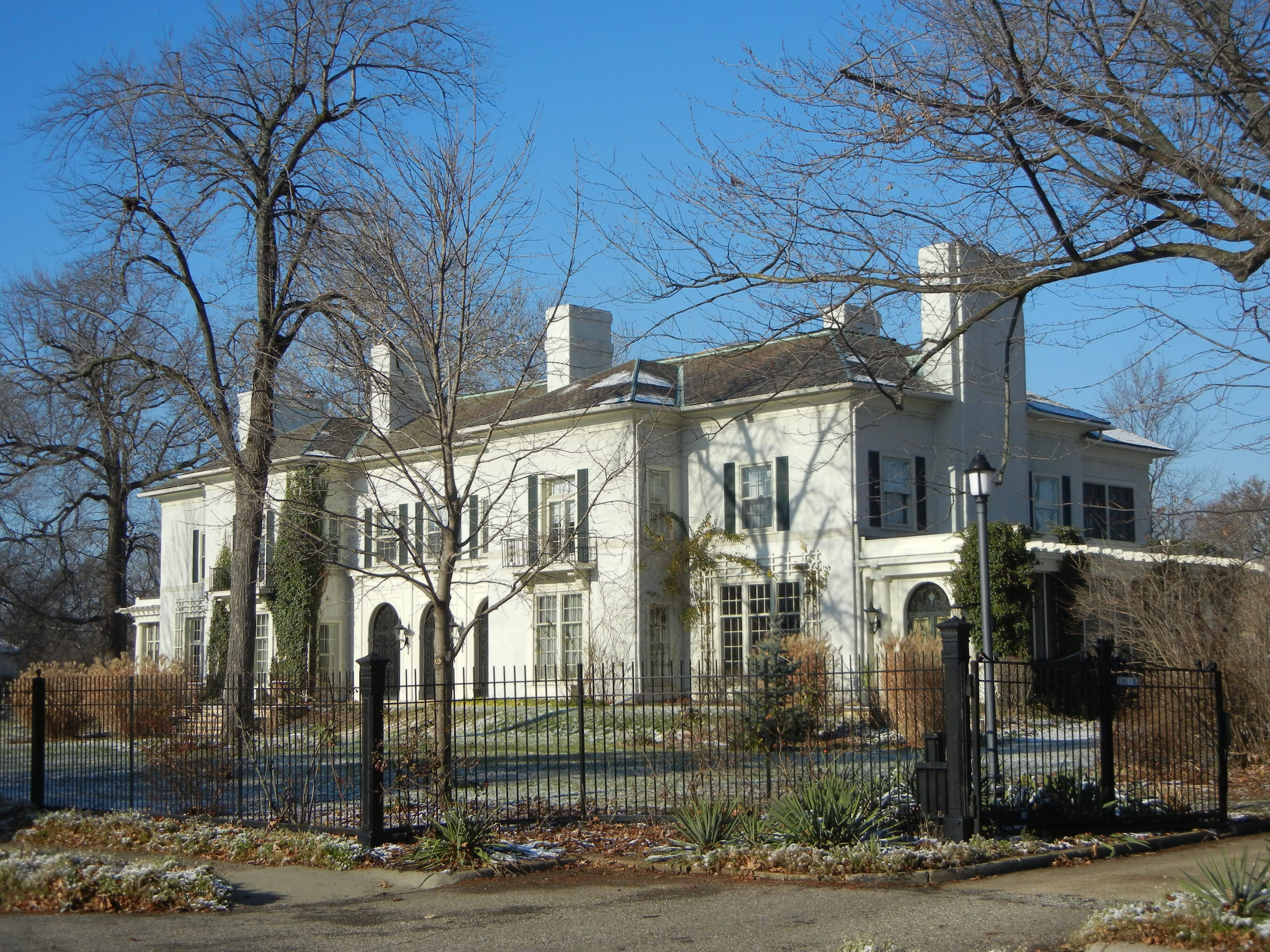 Mansion in Detroit once owned by S. S. Kresge, (the Five and Dime ...