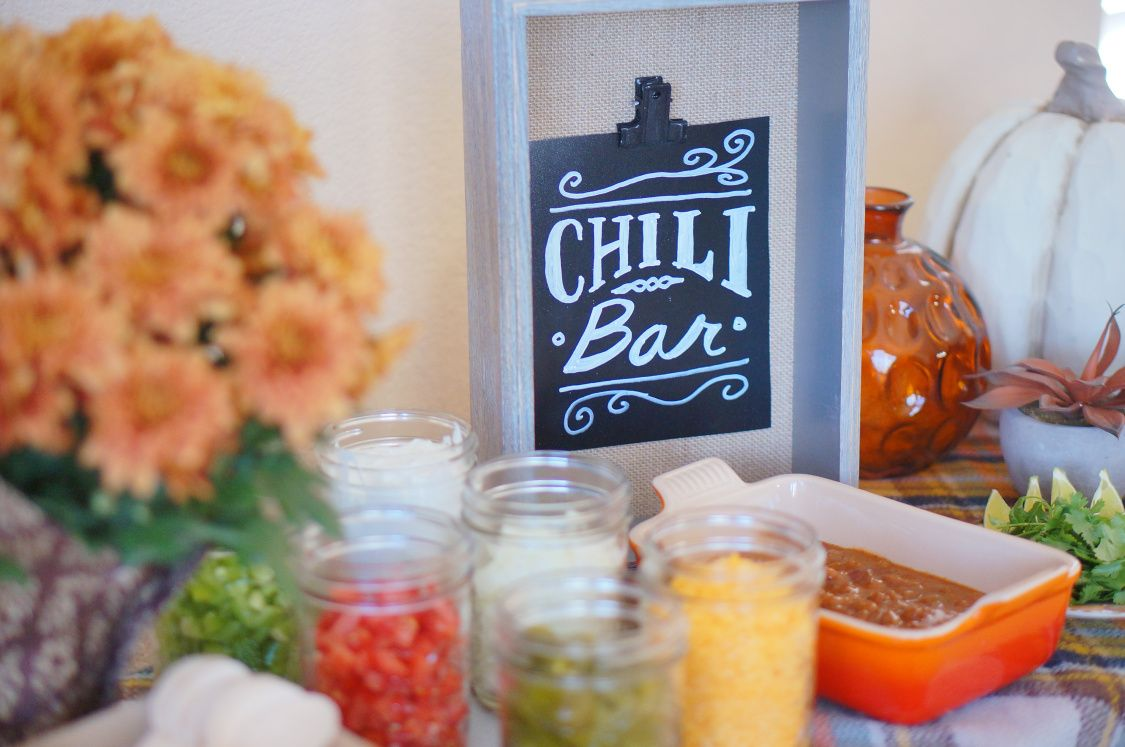 Game Day Chili Bar and GIVEAWAY (Closed #chilibar