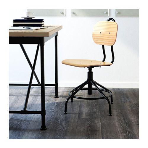 kullaberg swivel chair pine black swivel chair footrest. Black Bedroom Furniture Sets. Home Design Ideas
