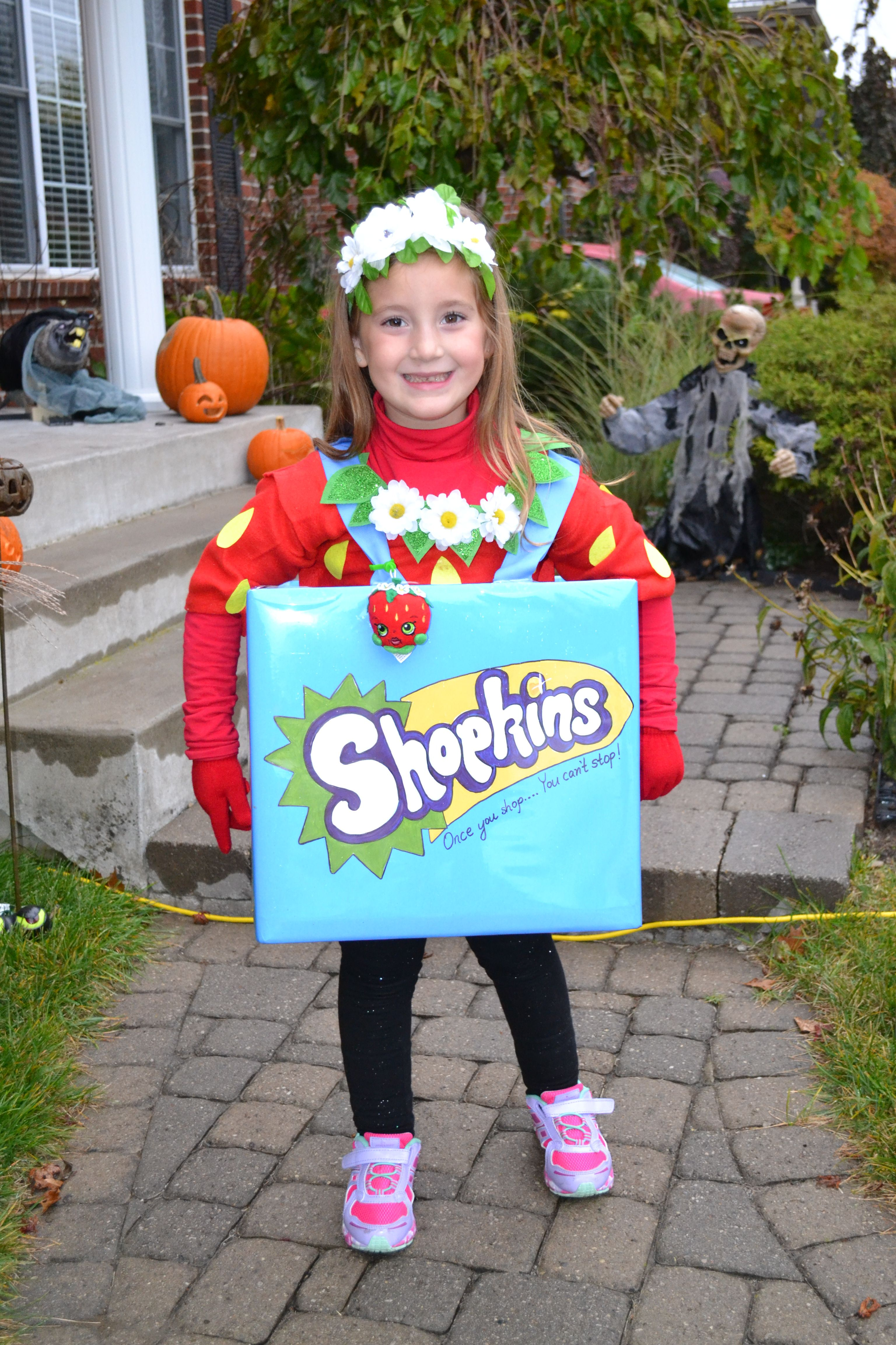DIY Shopkins Strawberry Kiss Halloween Costume She wanted to be a ...