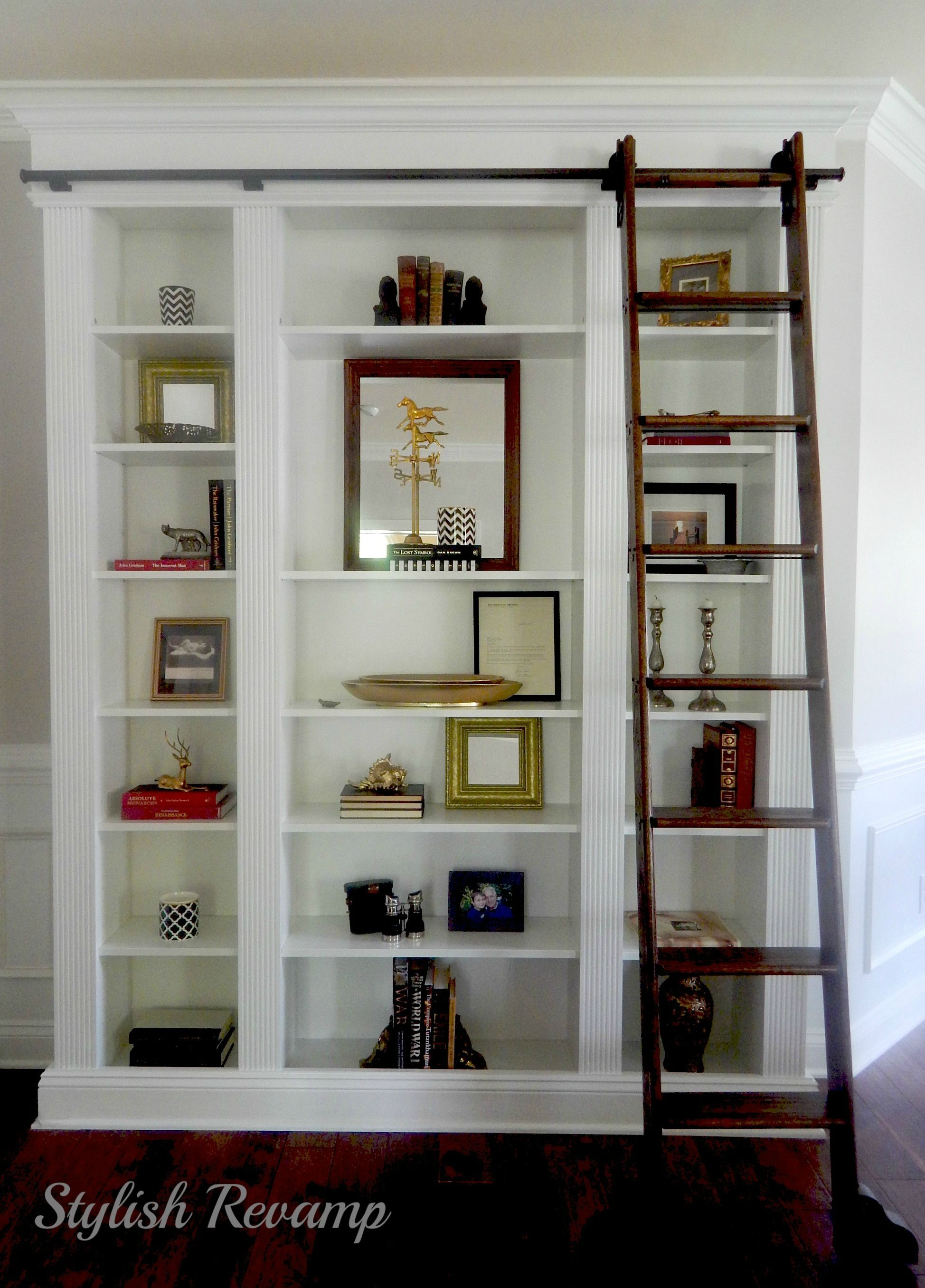 Ladder Bookshelf Ikea Ikea Billy Bookcase Hack Built Ins Cabinetry Ikea
