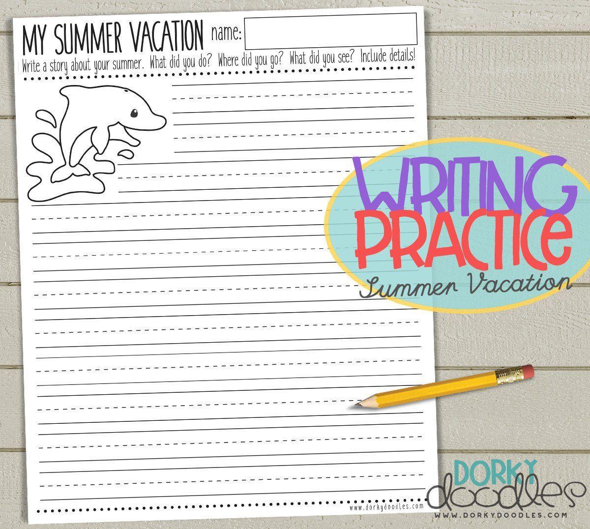 Back To School Writing Practice