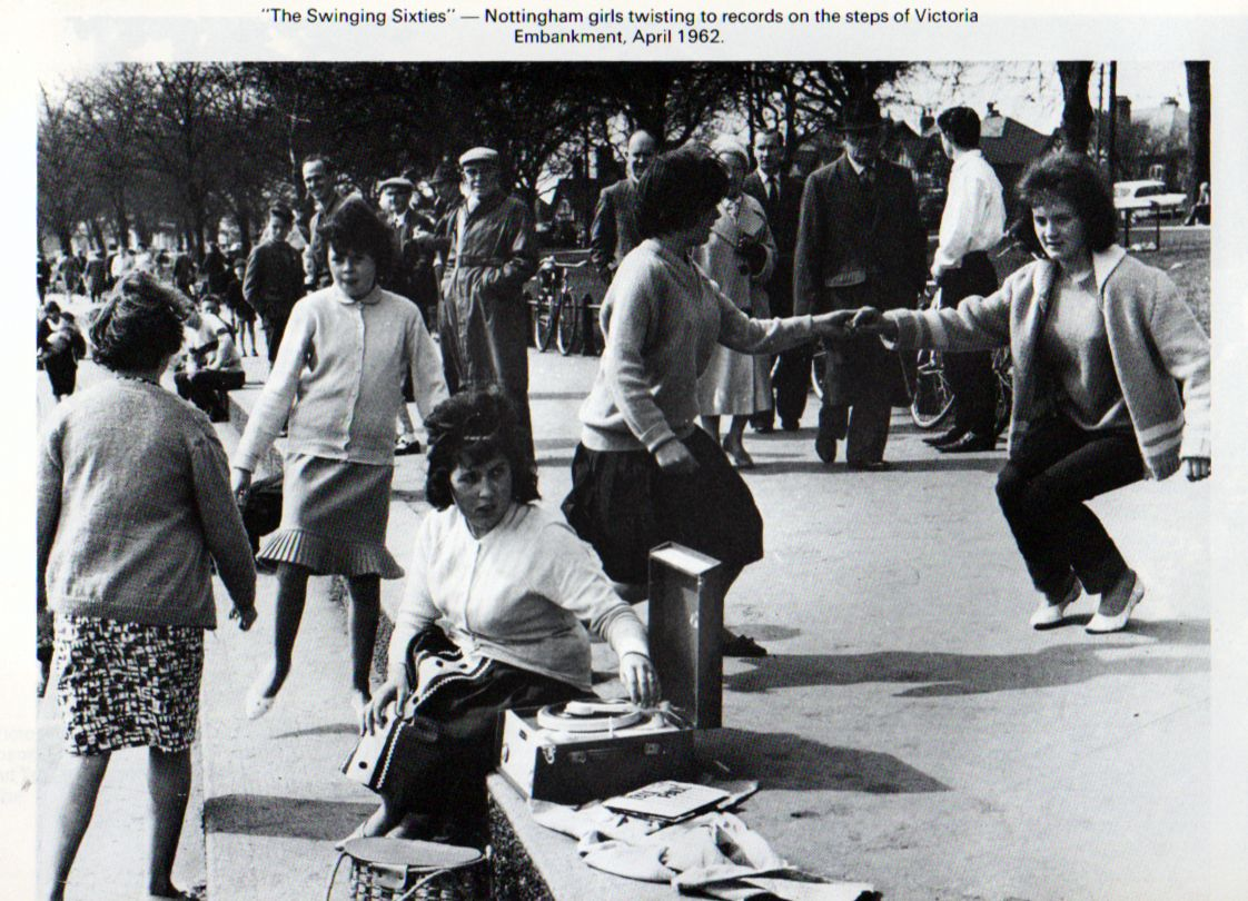 Twisting The Day Away On Victoria Embankment Nottingham 1962