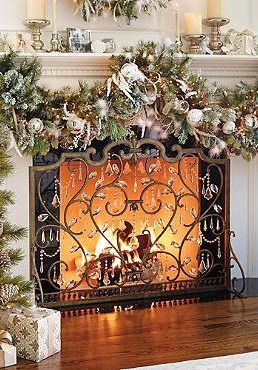 the louviere fire screen will add elegance to your hearth while sending firelight dancing with the hand cut crystals that are draped throughout the