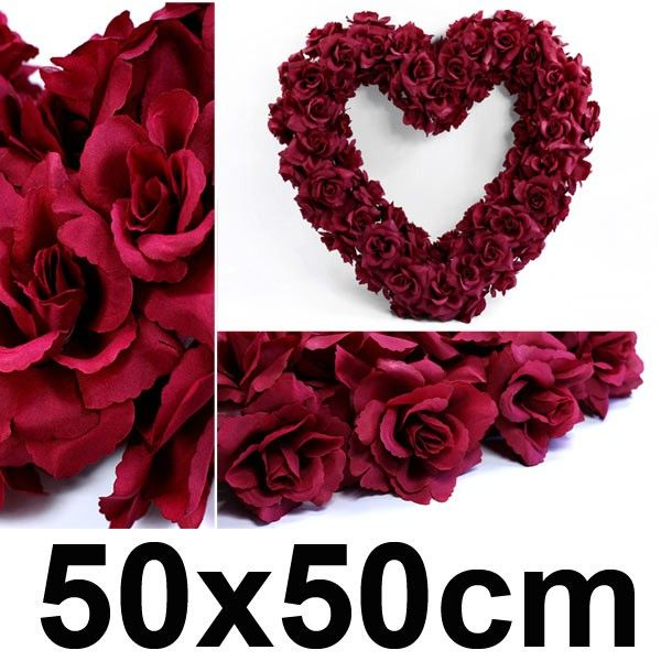 Svatební dekorace SRDCE 50x50 cm - bordó