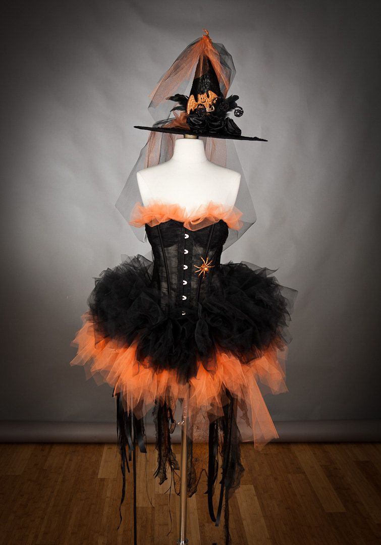 Witch costume -Tulle skirt I love the little hat