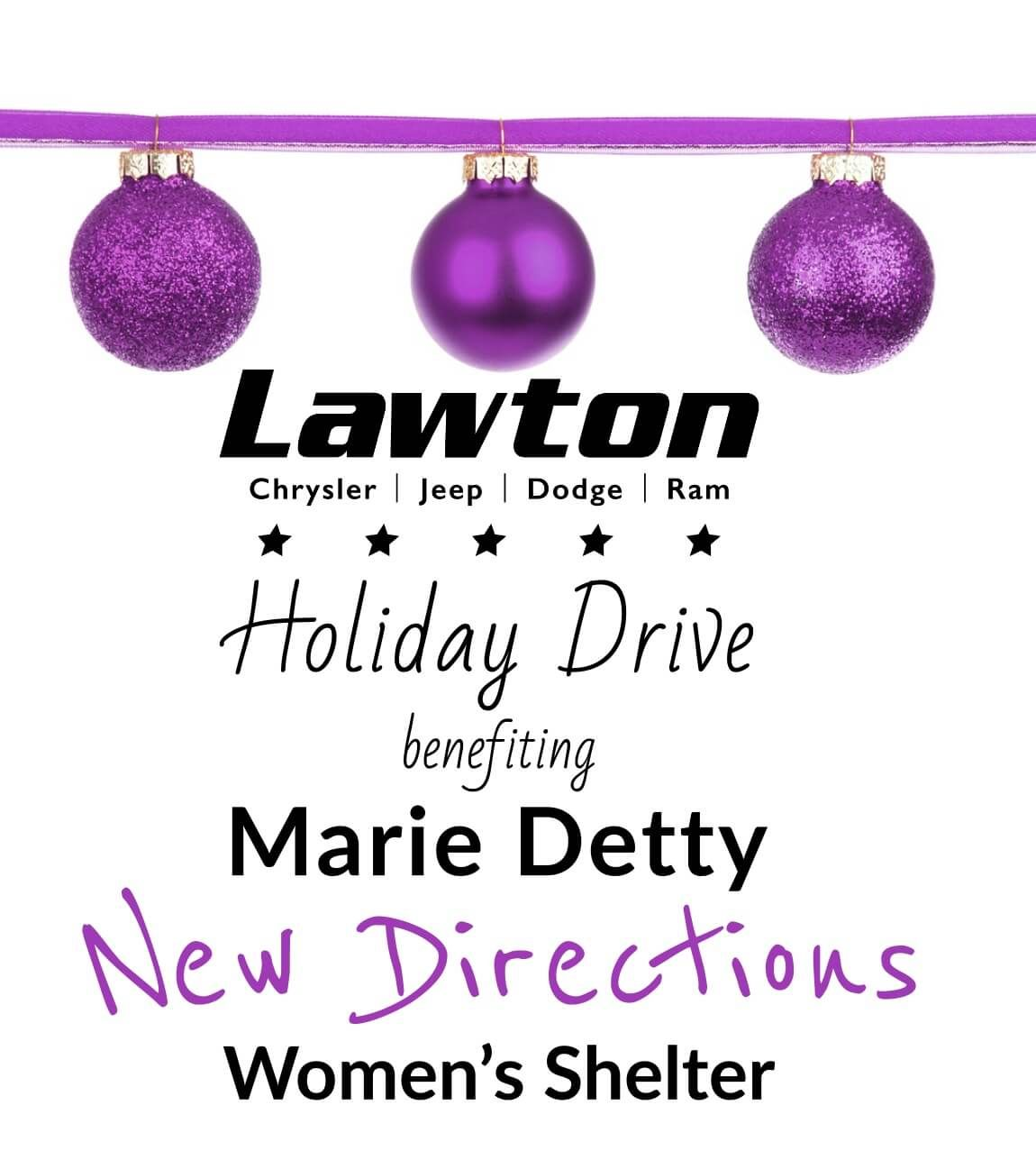 New Directions Women S Shelter Donation Drive Chrysler Jeep Jeep Dodge Donation Drive
