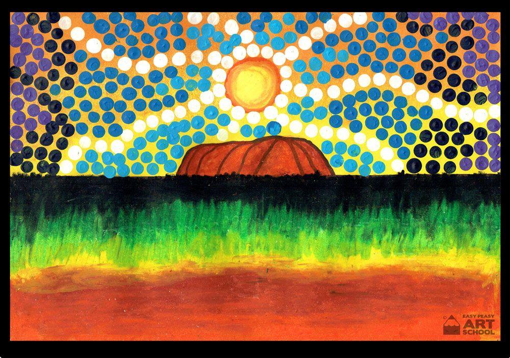 New Naidoc Week Uluru Online Art Lesson By Easy Peasy Art School Interactive White Board Lesson Iwb Australian Art For Kids Art Lessons Online Art School
