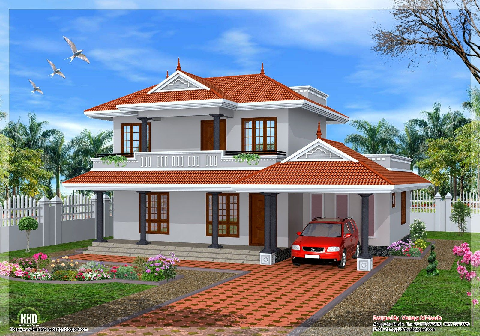 Plan sq ft kerala home design architecture house plans tattoo roof design plans hip roof garage plan house plans home designs