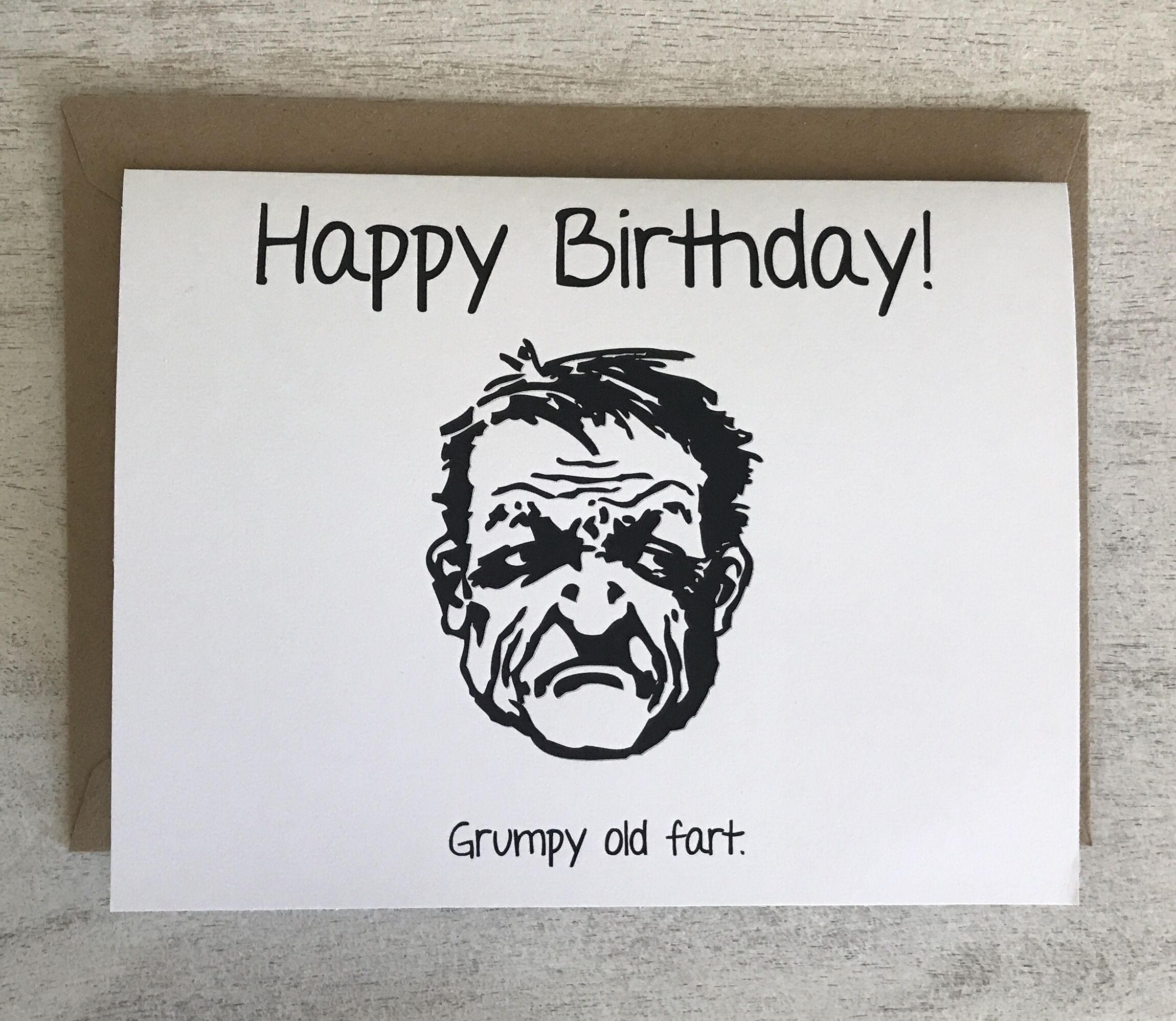 Happy Birthday Grumpy Old Fart Funny Card Cards For Husband Boyfriend Naughty Him Her