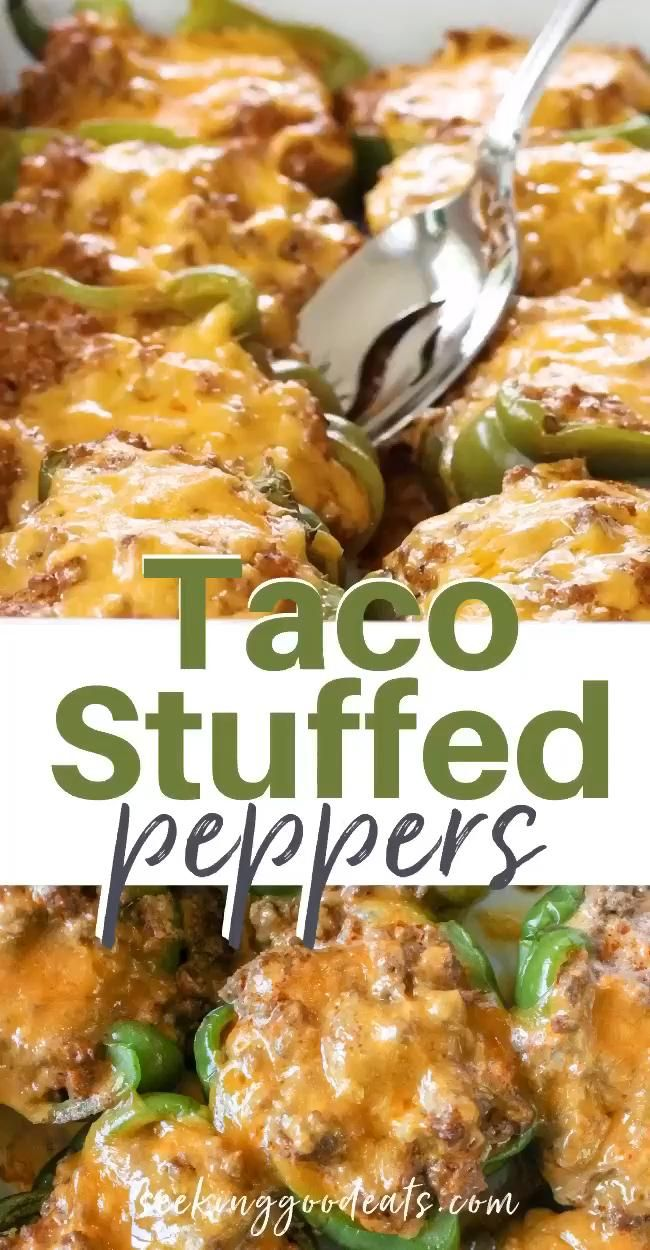 Photo of Taco Stuffed Peppers Mexican Recipe (Low Carb & Keto)