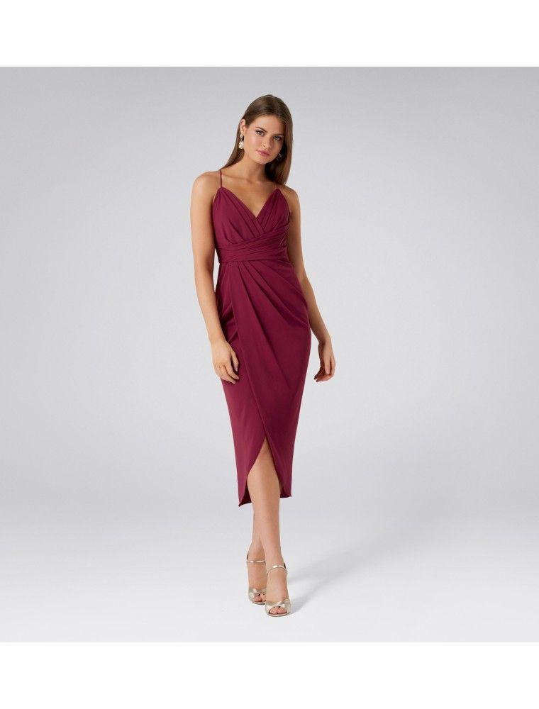 e0a591391f0 Charlotte Drape Maxi Dress Red Plum - Womens Fashion