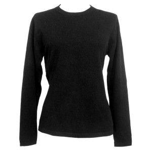 Black cashmere sweater!