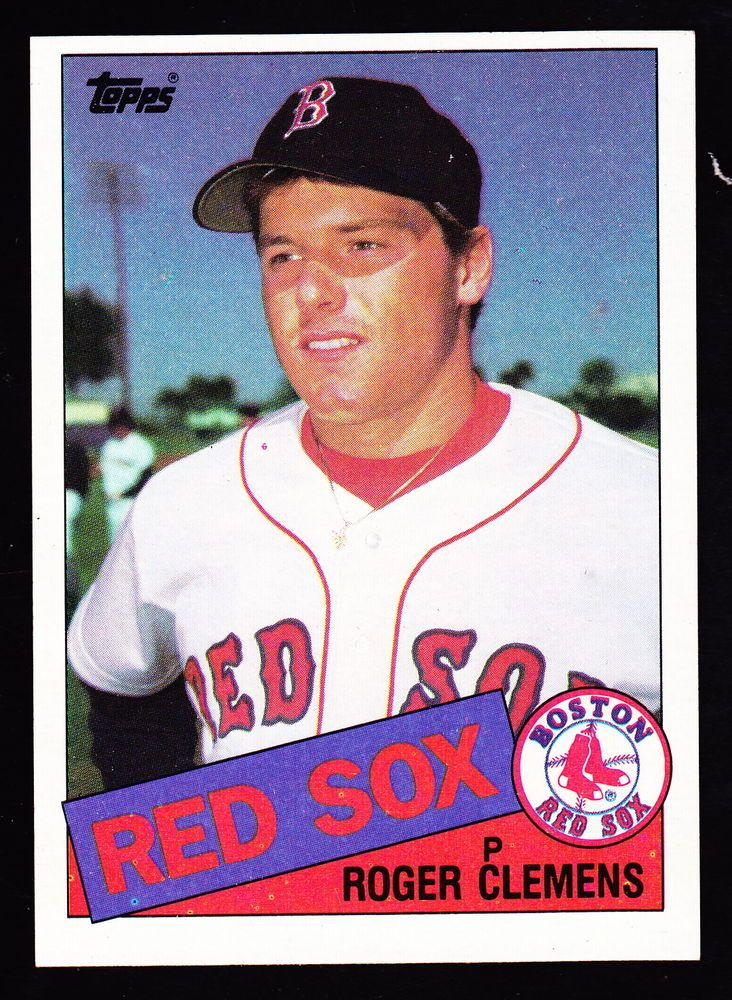 1985 Topps 181 Roger Clemens Red Sox Rookie From 70