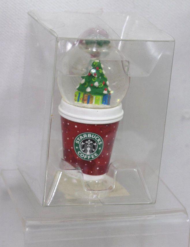Starbucks Christmas Ornaments 2019.Starbucks Christmas Ornament Coffee Cup Snow Globe 2006 3