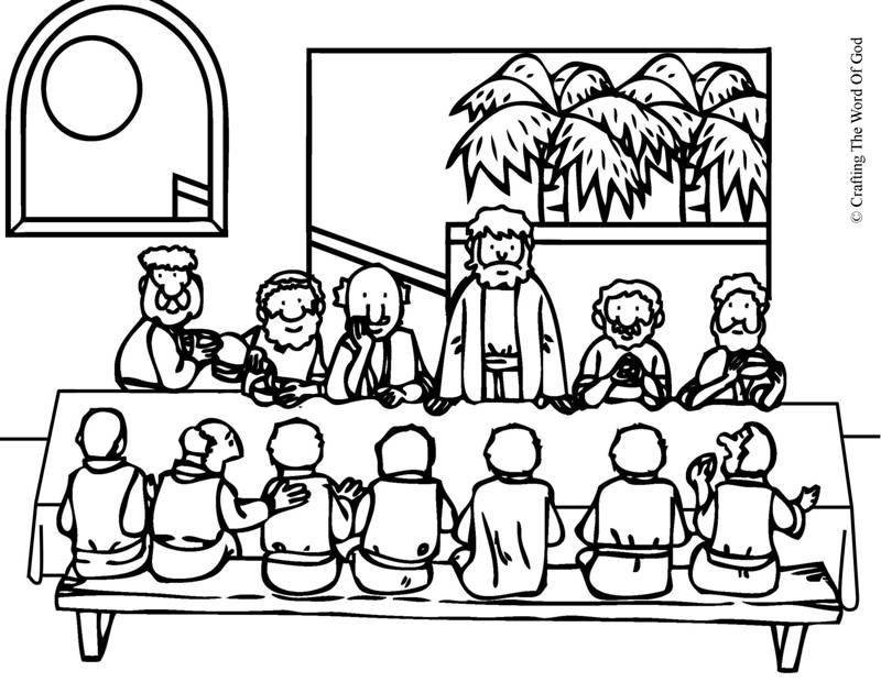 A Simple And Holy Holy Thursday Desenhos Biblicos Para Pintar