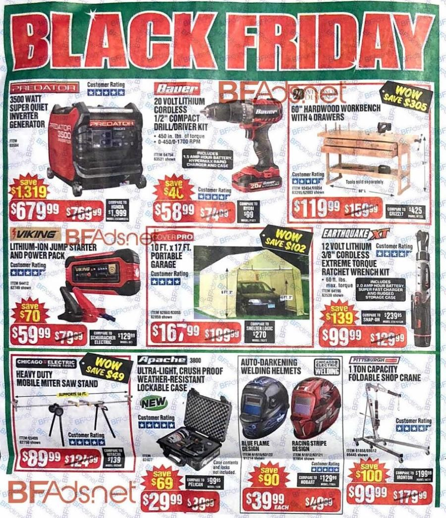 Harbor Freight Black Friday 2018 Black friday ads, Black