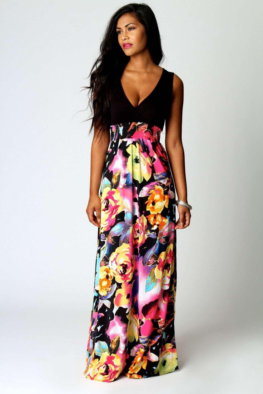 Kiera rose print maxi dress maxi dresses rose and printing