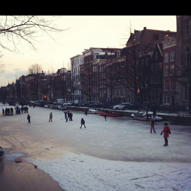 Skating on the canals
