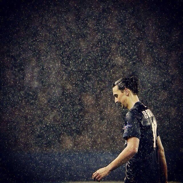 Ibra in the rain