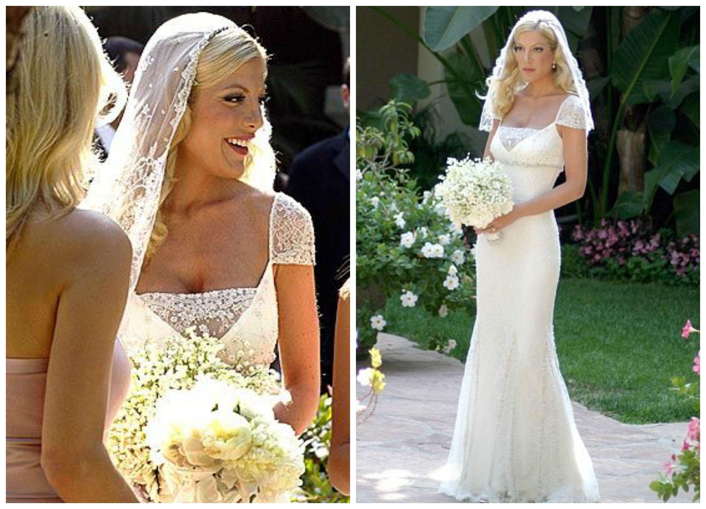Tori Spelling Wedding Dress Celebrity Wedding Dresses Tori