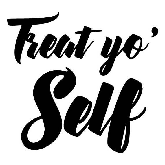 Wall Quotes Treat Yo' Self Vinyl Wall Decal Motivational