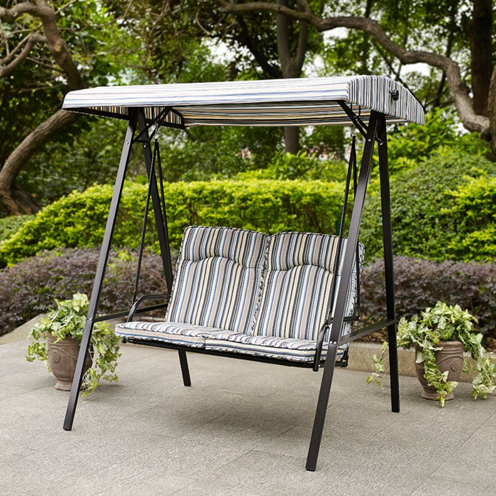 with porch swings replacement bay chocolate figure person coral patio long outdoor swing coast canopy
