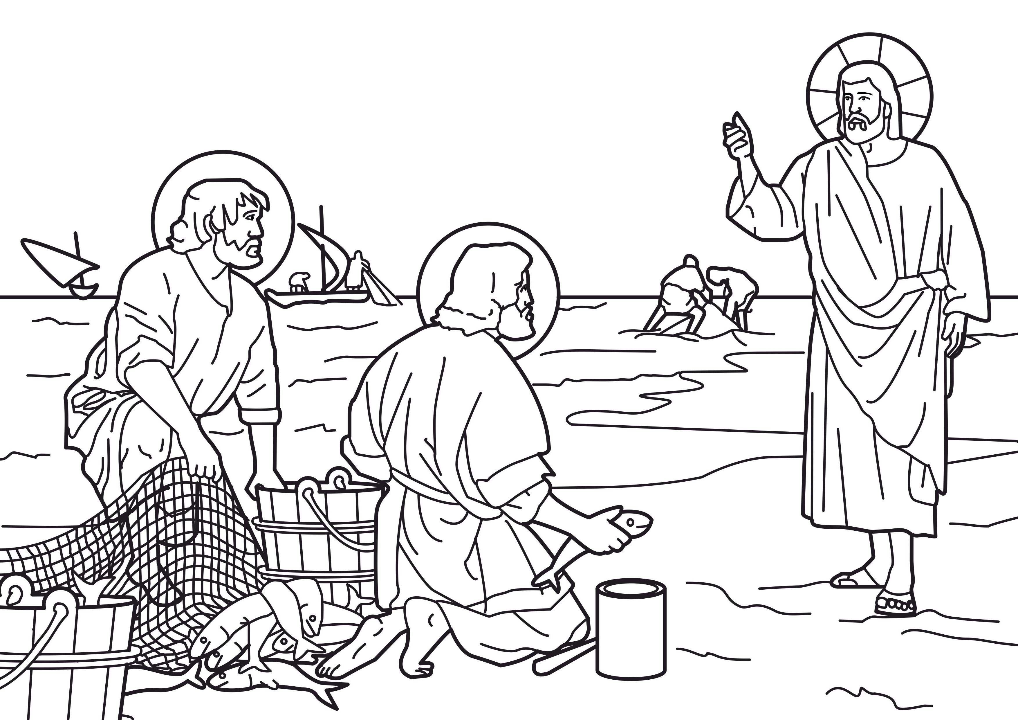 disciples coloring pages - photo#6