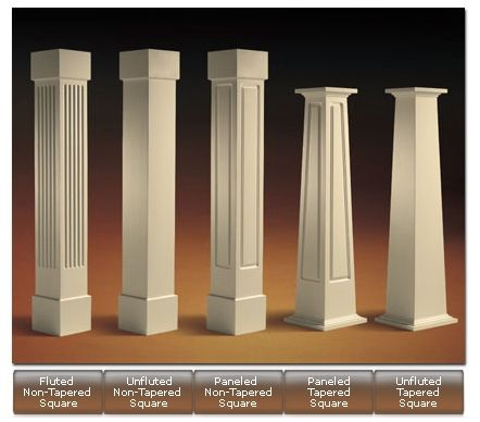 different types of craftsman columns for home exterior, i love 2nd and 5th. #craftsmanstylehomes