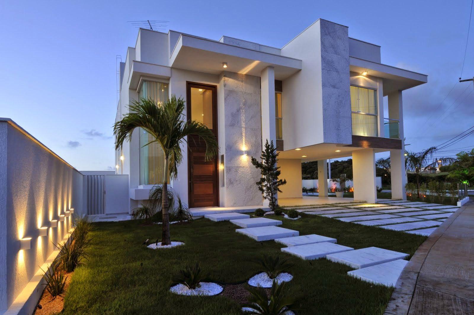 Decor Salteado Blog de Decoraç u00e3o e Arquitetura 20 Fachadas de casas modernas com lin -> Decoracao De Casas Modernas