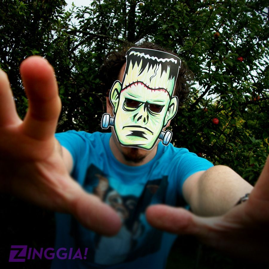 Wanna make your own Halloween mask? Check out this Frankenstein ...