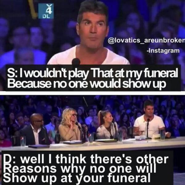 Demi Lovato And Simon Cowell Good Comebacks Funny Comments Good Burns