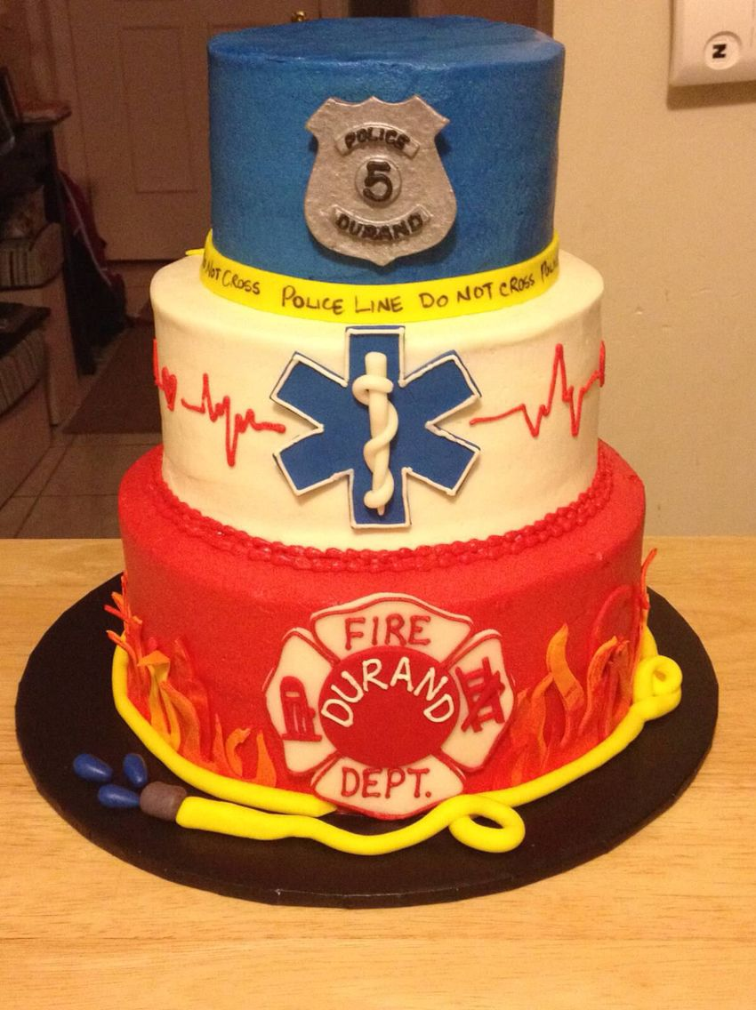 First Responders Cake My Work Pinterest Cake Birthdays And