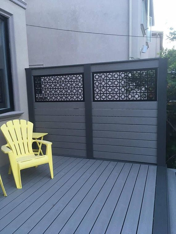 SQUARE1 - Metal Privacy Screen Decorative Panel Garden Fence Decor Art