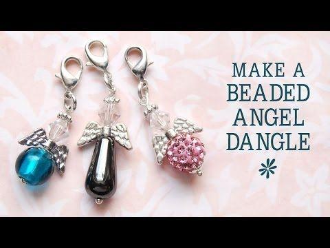 Angel Bead Pendant Kit Silver Glass Angels Metallic Jewellery Craft gift