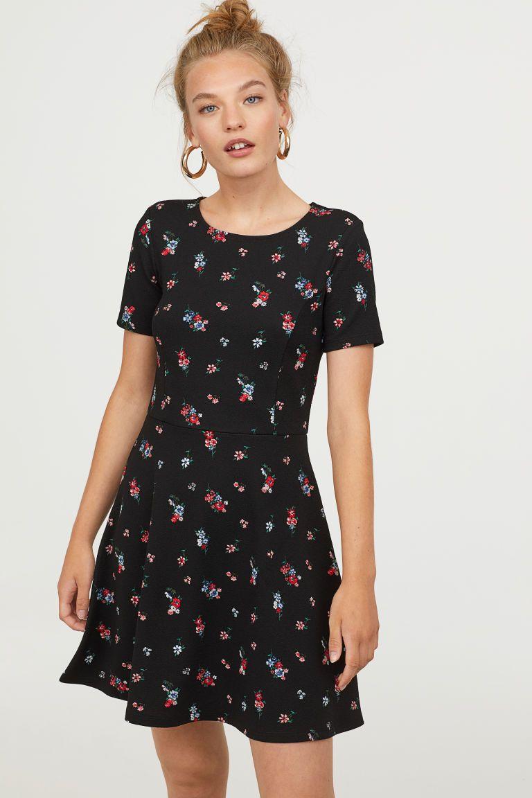 klassiek gloednieuw fantastische besparingen Tricot jurk met korte mouwen   H&M - Jersey jurken, Jurken ...