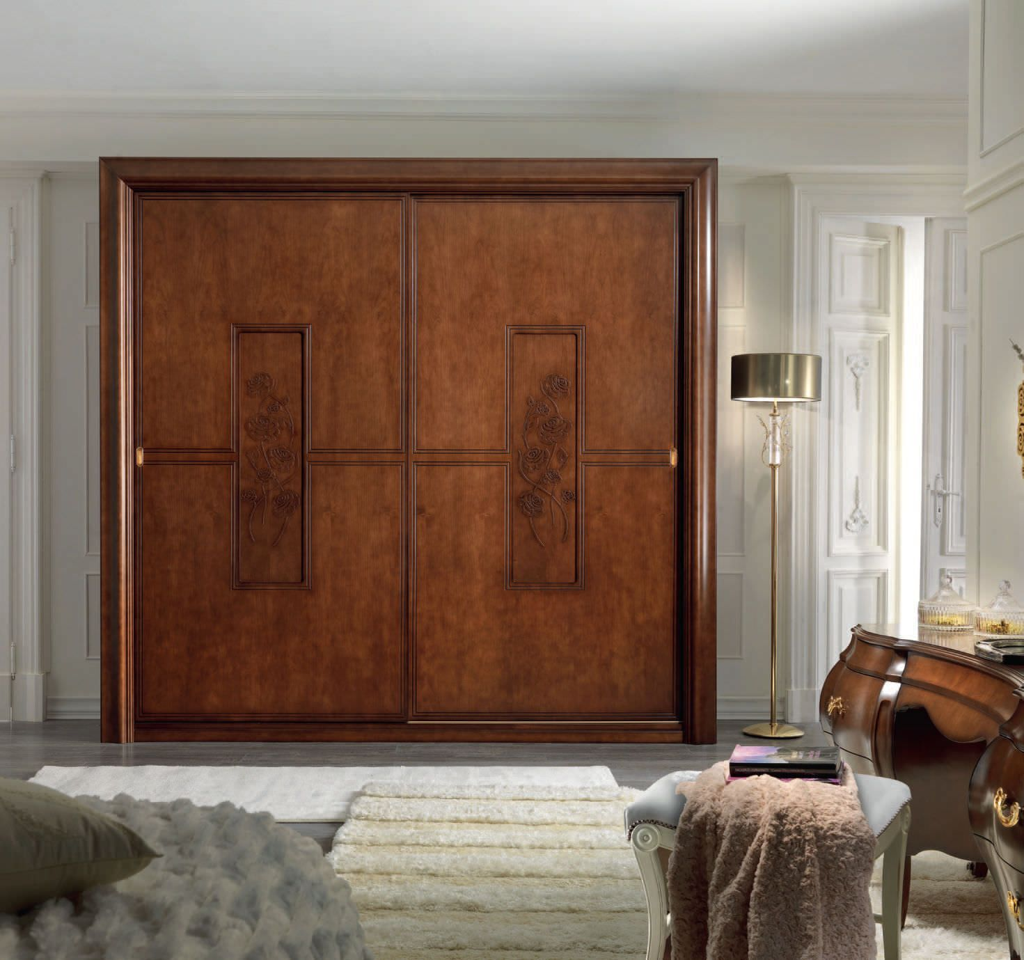 23 stylish closet door ideas that add style to your for Bedroom entrance door designs