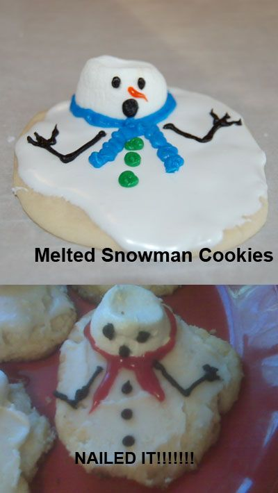 Melted Snowman Cookies Christmas Loves Winter Themes Diy