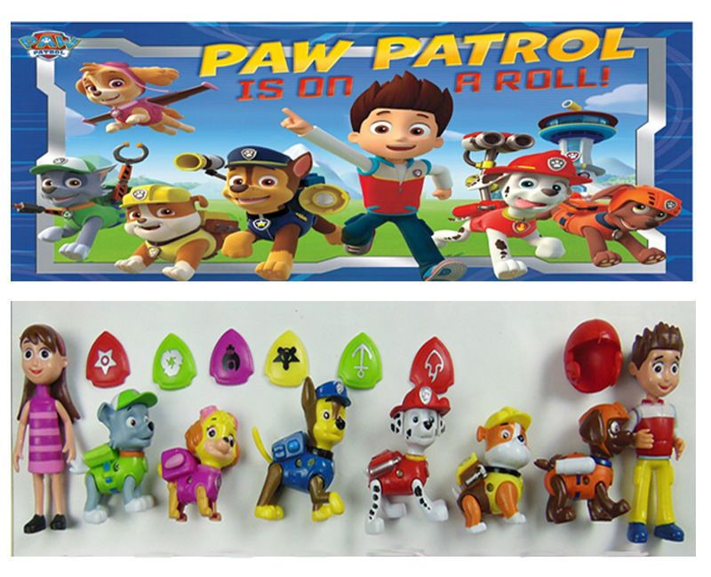 Patte Patrouille Rescue Coureur Marshall 3 Pack Rocky zuma