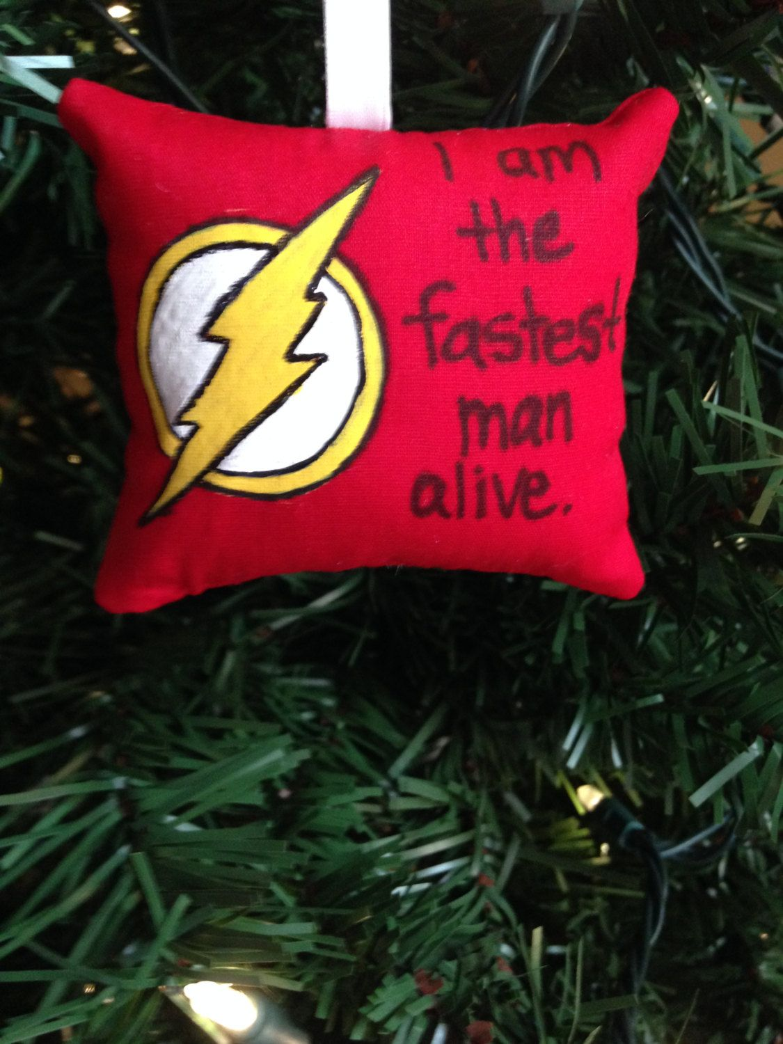 The Flash Logo Symbol Fastest Man Alive Christmas Ornament DC ...