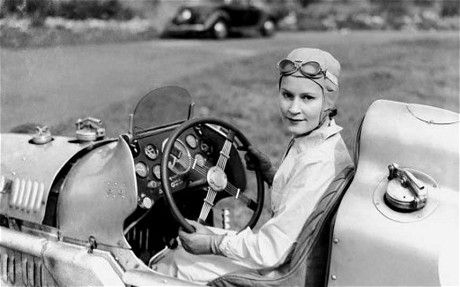 Kay Petre, Canadian born racing driver - who famously drove a 10.5 litre #Delage at #Brooklands (despite opposition from the 'men of the course'!