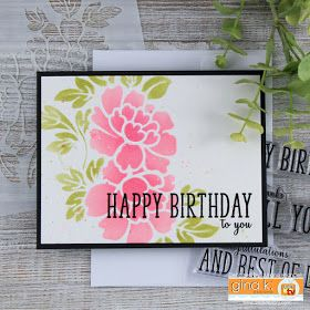Happy birthday card by juliana michaels featuring grand greeting happy birthday card by juliana michaels featuring grand greeting stamp set by gina k designs and m4hsunfo