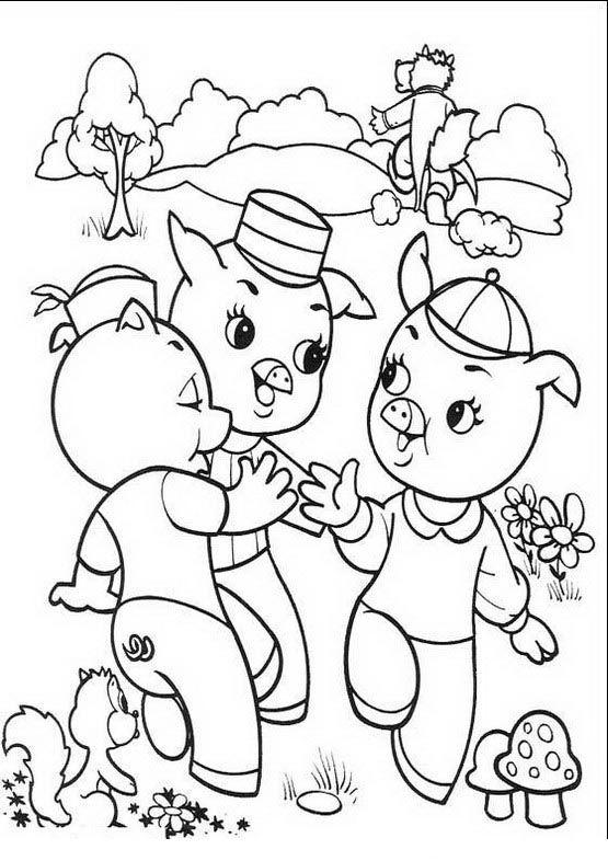 Die Drei Kleinen Schweinchen Ausmalbilder Malvorlagen