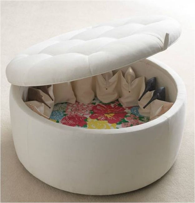 Shoe Ottoman Part - 15: The Shoe Ottoman   33 Insanely Clever Things Your Small Apartment Needs