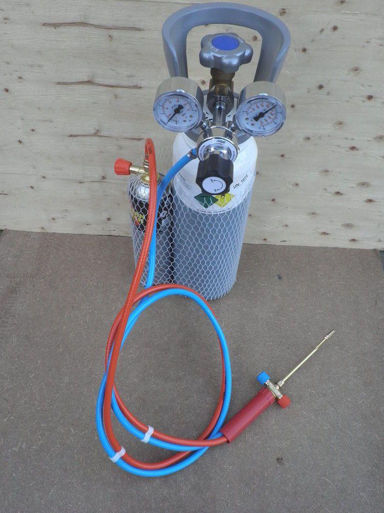 Dettagli Su Kit Saldatura Autogena Riduttori Cannello Tubi Bombola