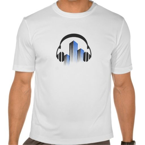 Headphones with Frequency-Equalizer DJ Music Sound Tshirt