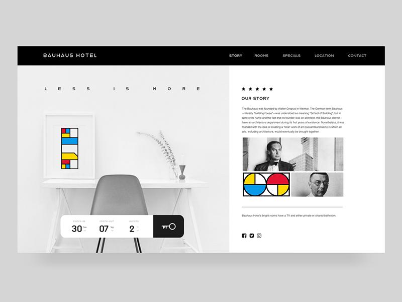 Bauhaus Hotel Bauhaus Hotel Web Design