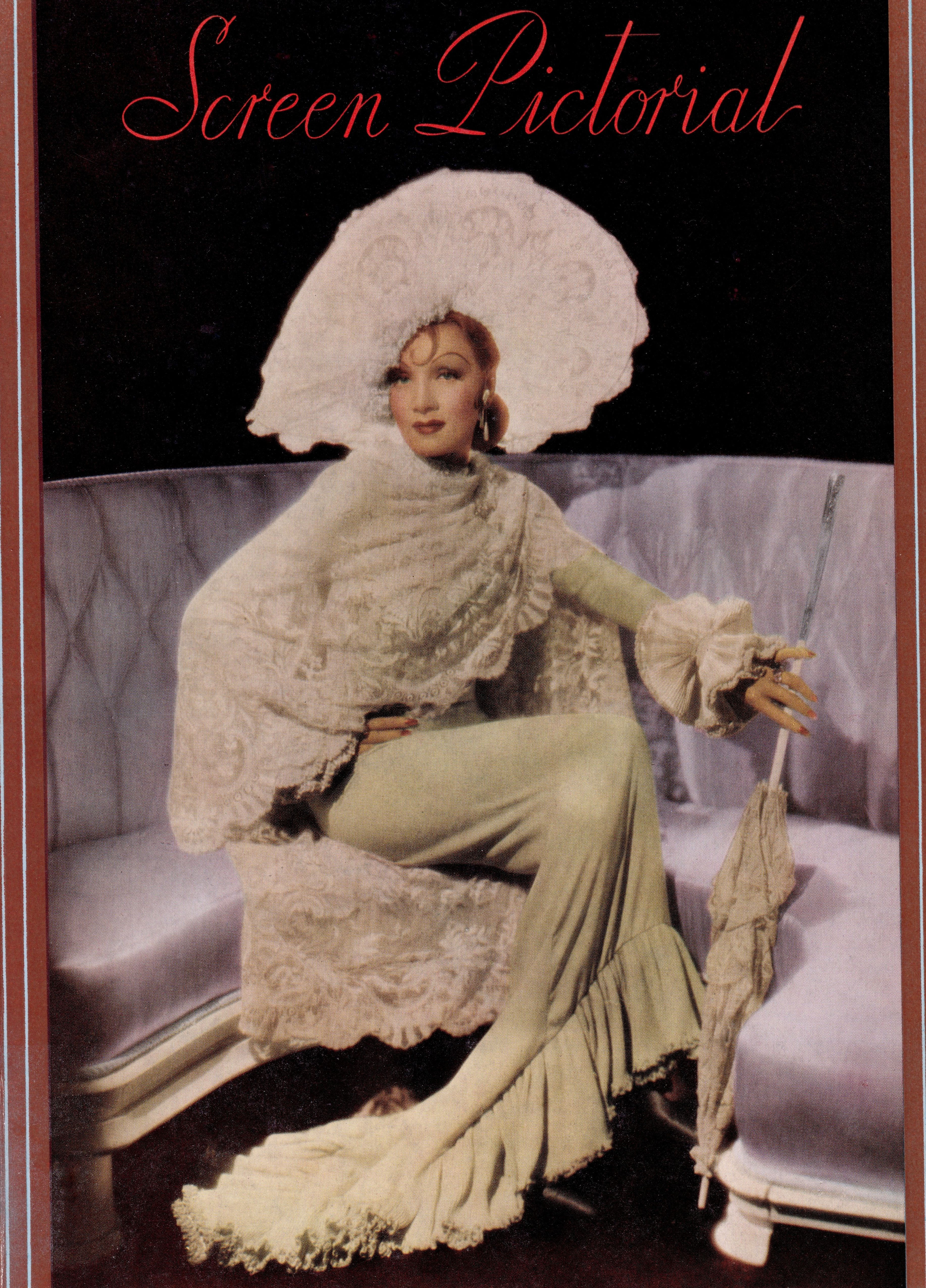 Marlene Dietrich The Devil Is A Woman Very Rare Colour Clipping