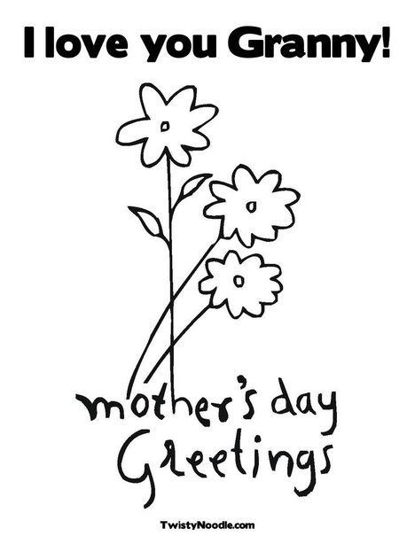 Mother\'s Day Coloring Page | Mother\'s Day teaching resources | Pinterest