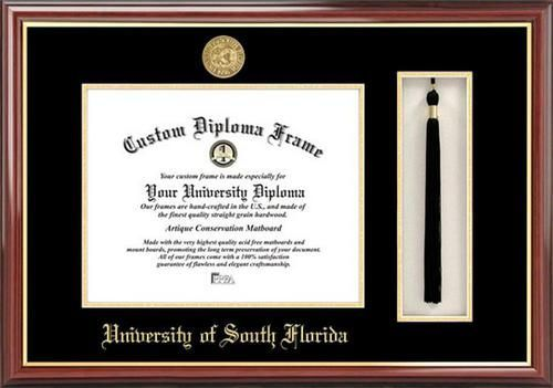 South Florida USF Bulls Diploma Frame and Tassel Box | South florida